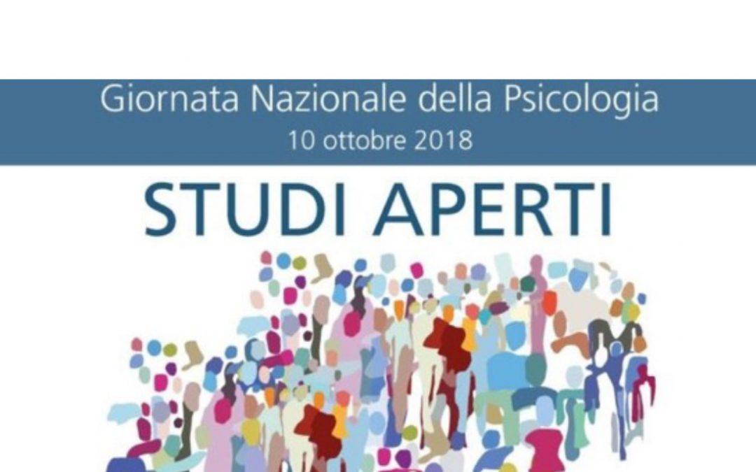 """10 ottobre 2018 """"STUDI APERTI"""" Giornata Nazionale della Psicologia"""
